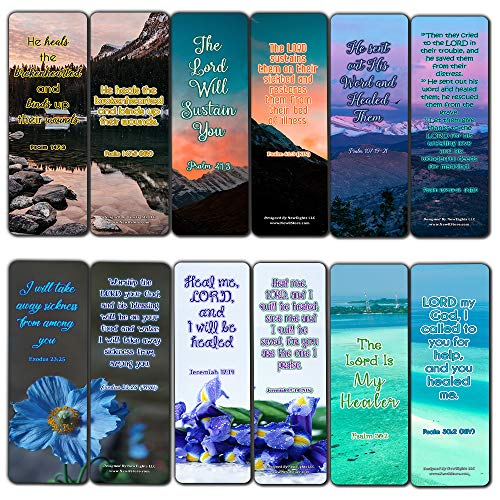 Bible Verse About Christmas (Scriptures Bookmarks - Bible Verses About Healing Scriptures and Comforting Bible Verses for Illness (30 Pack) - Well Designed and Easy to Memorize Bible)