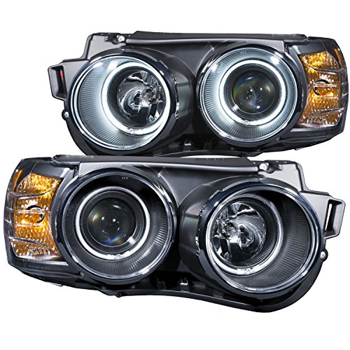 AnzoUSA 121488 Black/Clear/Amber Halogen Projector Headlight for Chevrolet Sonic