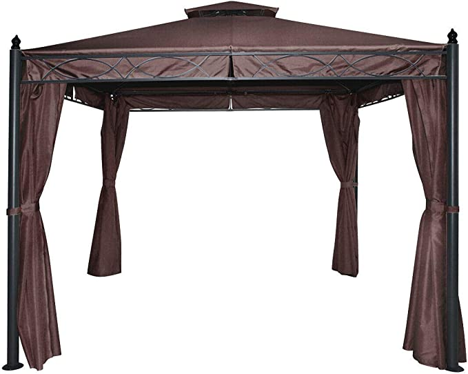 Gazebo - Toldo de Metal (3 x 3 m): Amazon.es: Jardín