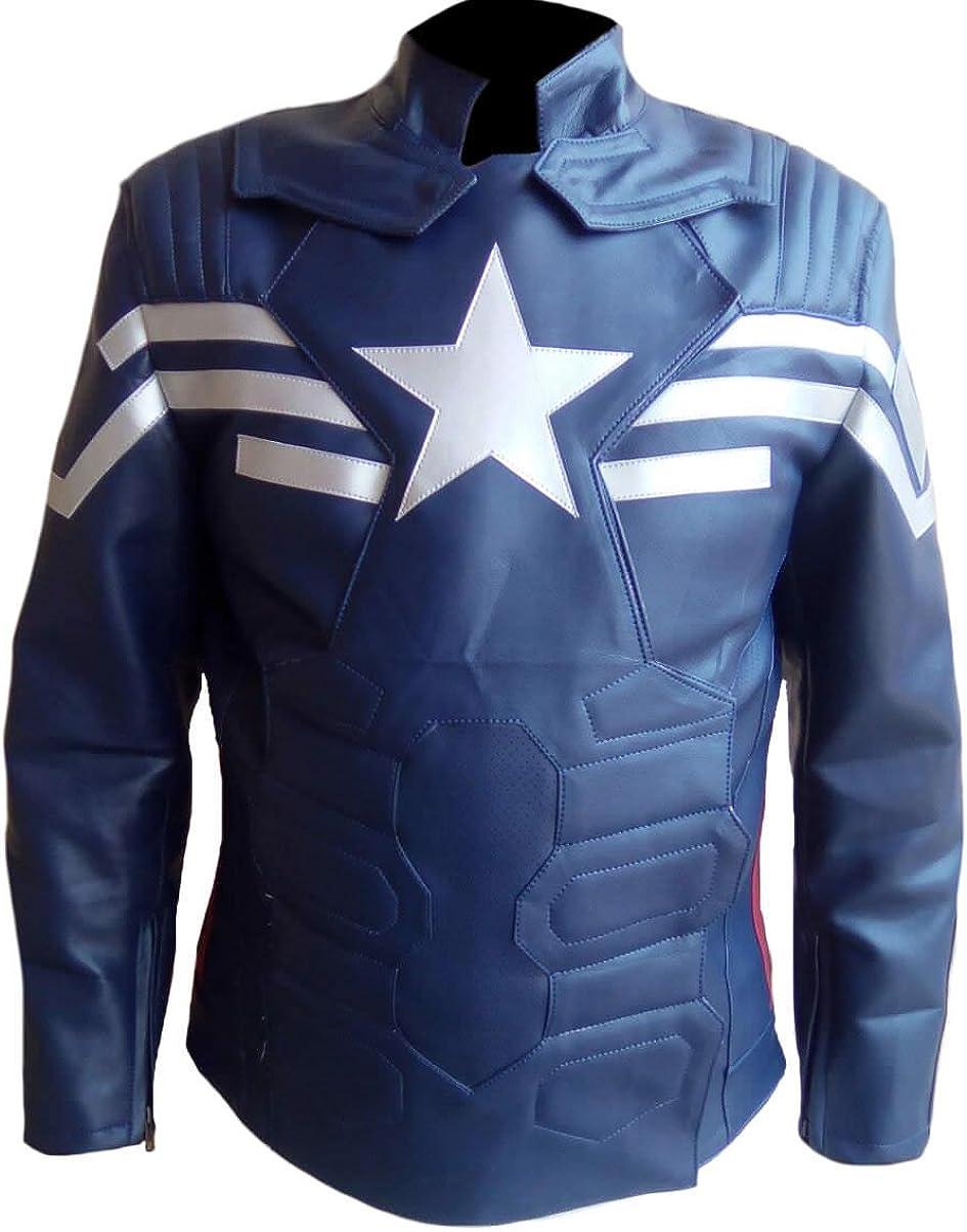 SleekHides Mens Fashion Motorbike Real Leather Jacket with Captain Design