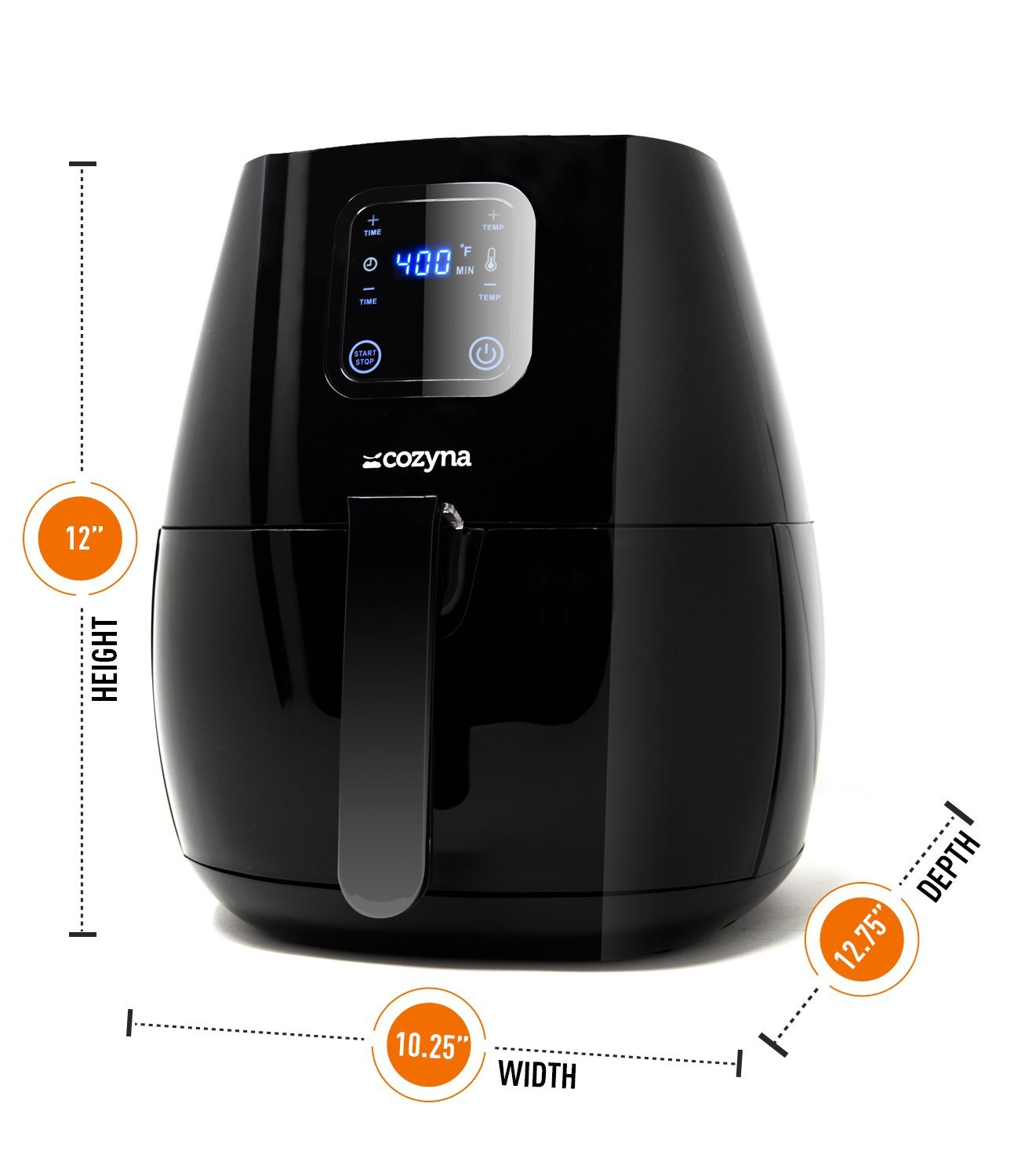 Cozyna SAF-32 Digital Air Fryer Touchscreen (3.7QT) with 2 airfryer cookbooks and a Skewer Rack Accessory by Cozyna (Image #4)