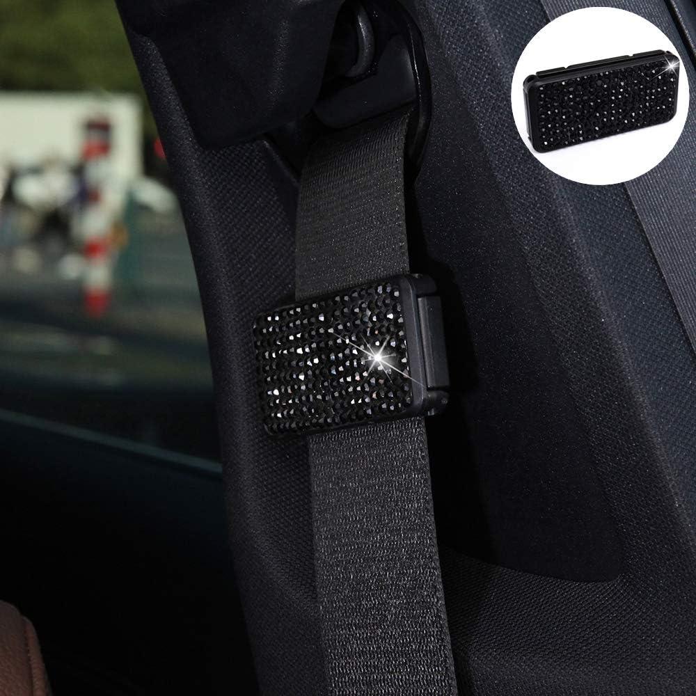 Color : Colour Black Jianghaibin LS Car Seat Belts Crystal Clip Fixer Tightening Regulator