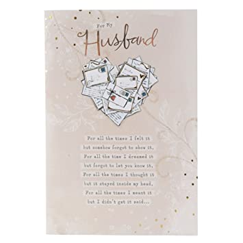 Hallmark Birthday Card For Husband I Love You