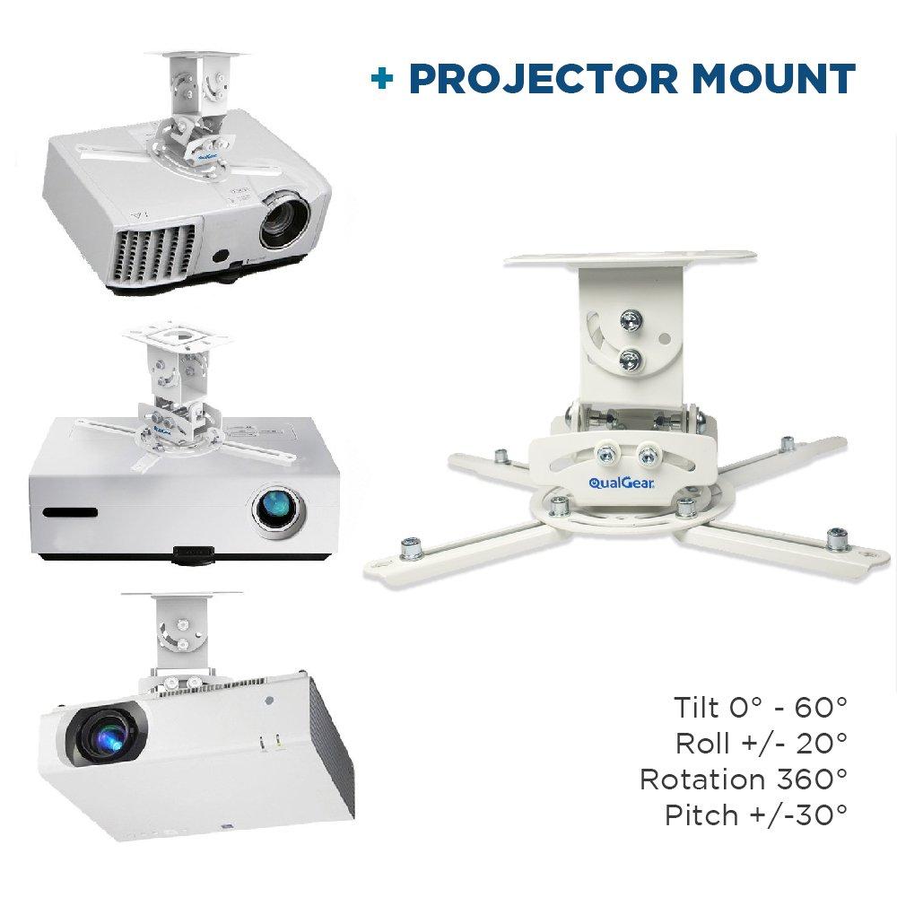QualGear PRB-717-BLK Universal-Projektor f/ür Deckenmontage