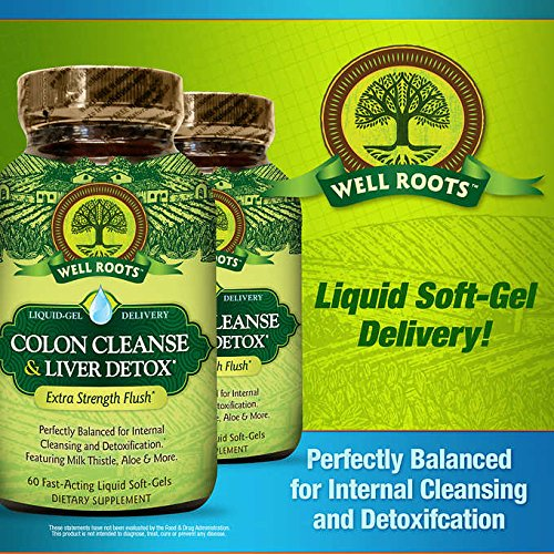 Well Roots Colon Cleanse and Liver Detox Supplement, Value Size 3 Pack ( 60 Count Each )