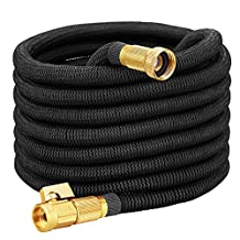 VicTsing 50ft Garden Hose, [New Version] Strongest Expandable Garden Hose with Double Latex Core, Solid Brass Connector and Extra Strength Fabric for Car Garden Hose Nozzle
