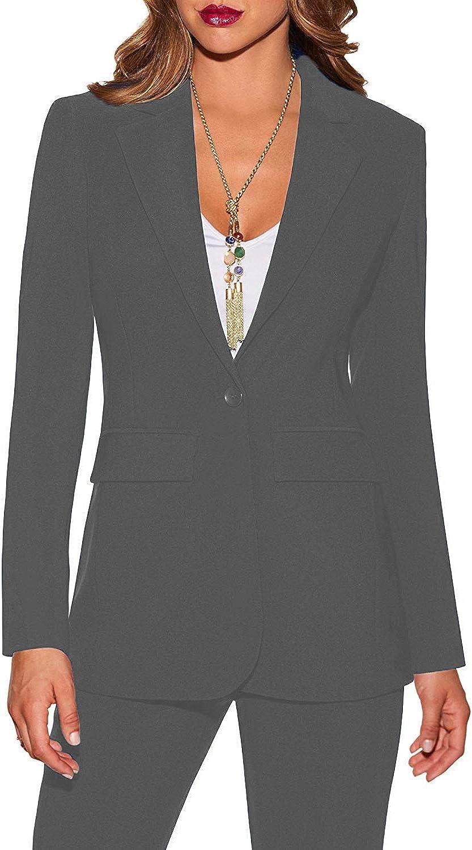 P.L.X Ladies Two Piece Workwear Female Business Dresses Pants Suit