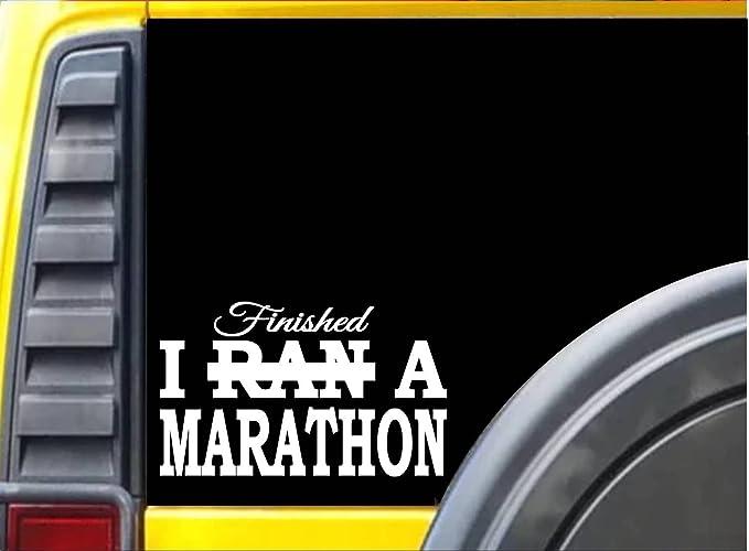 I finished a Marathon L133 8 inch Sticker 26.2 decal