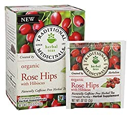 Traditional Medicinals Organic Tea Rose Hips with Hibiscus 16 tea bags (a) - 2PC - 3PC