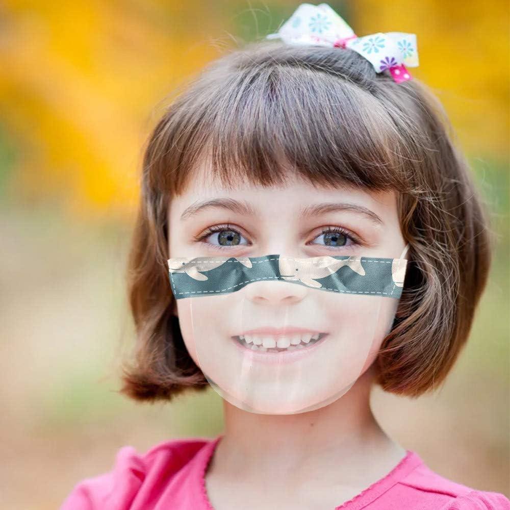 A, 2 half-Face Visier Kunststoff Klarer Gesichtsschutz Elastisch Komfortabel Tragender Mundschutz f/ür kinder 2//5 St/ück kinder Transparente Offene Gesichtsschutz
