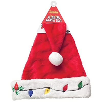 D&D Distributing Blinking Santa Hat: Toys & Games