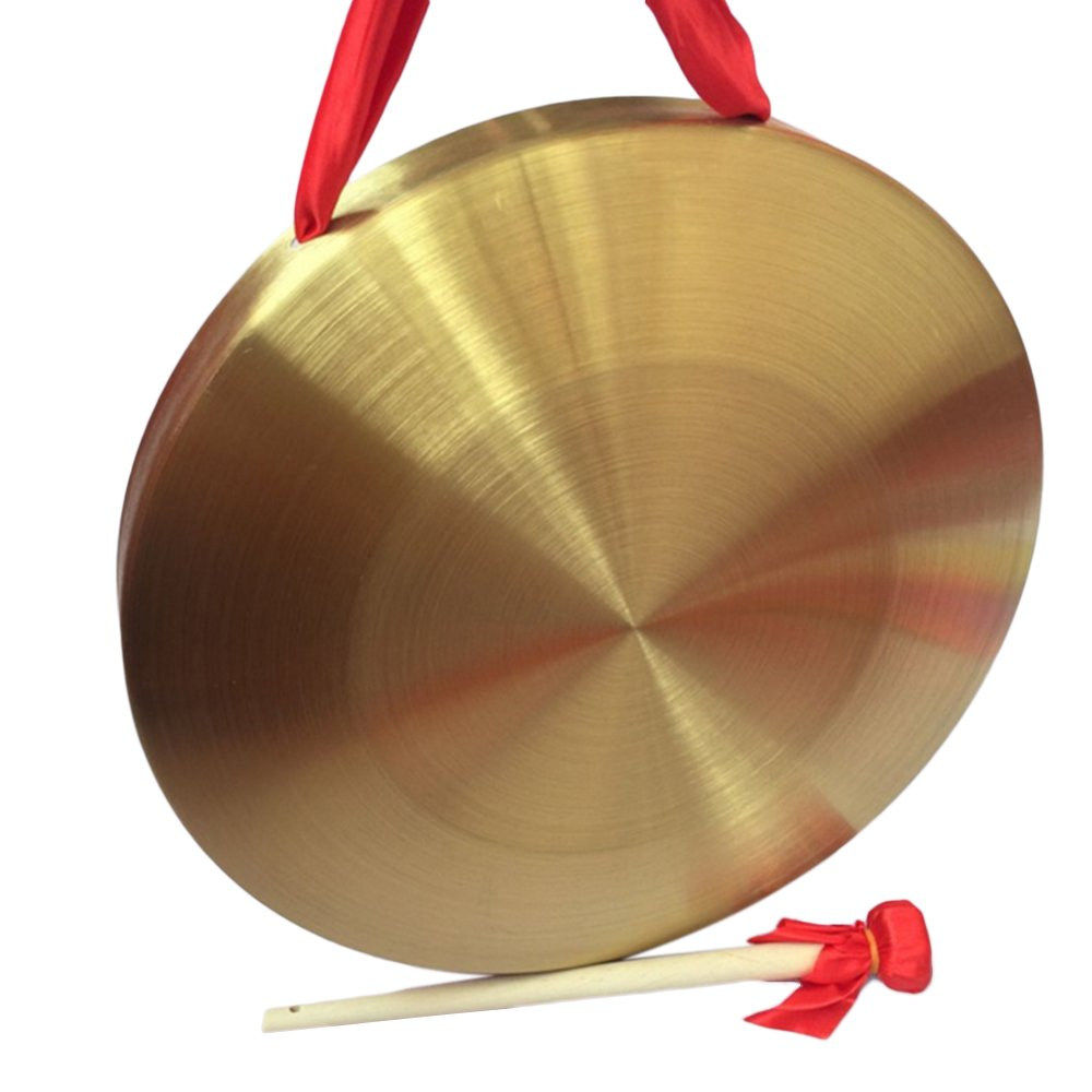 Bronze Chau Gongs, MKLOT Drum Sets Traditional Gong tam-tam 12.60'' Wide with Beater Oriental Musical Instruments