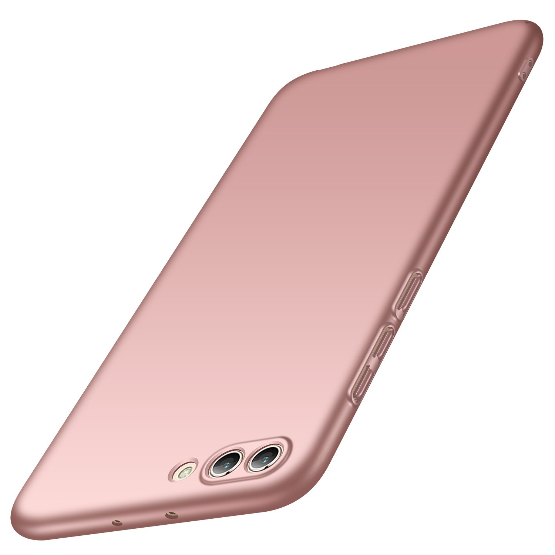 anccer Funda Huawei Honor View 10, Funda Huawei Honor V10 [Serie Colorida] [Ultra-Delgado] [Ligera] Anti-rasguñ os Estuche para Carcasa Huawei Honor View 10 / Honor V10 (Azul Liso)