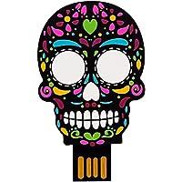 By Mexico USB modelo Calavera Negra Colores 8 GB