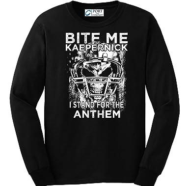 67a9c103 Amazon.com: Sons of Libery Bite Me Kaepernick. Long Sleeve Shirt ...