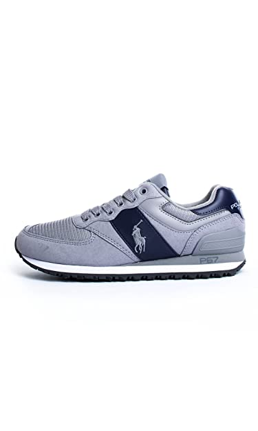 Ralph Lauren Polo Sport Slaton Pony Trainers Grey 11 UK