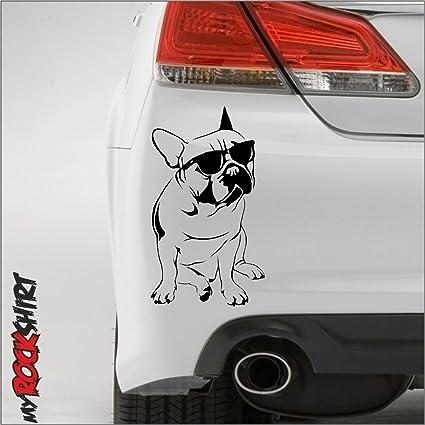 pegatina de alta calidad con perro bulldog con Gafas de sol, 25 cm ...