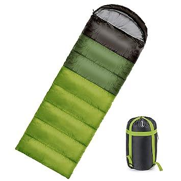 ieGeek Saco de Dormir Caliente 350g de llenado de Sobres Ligero y Transpirable sueño Saco con