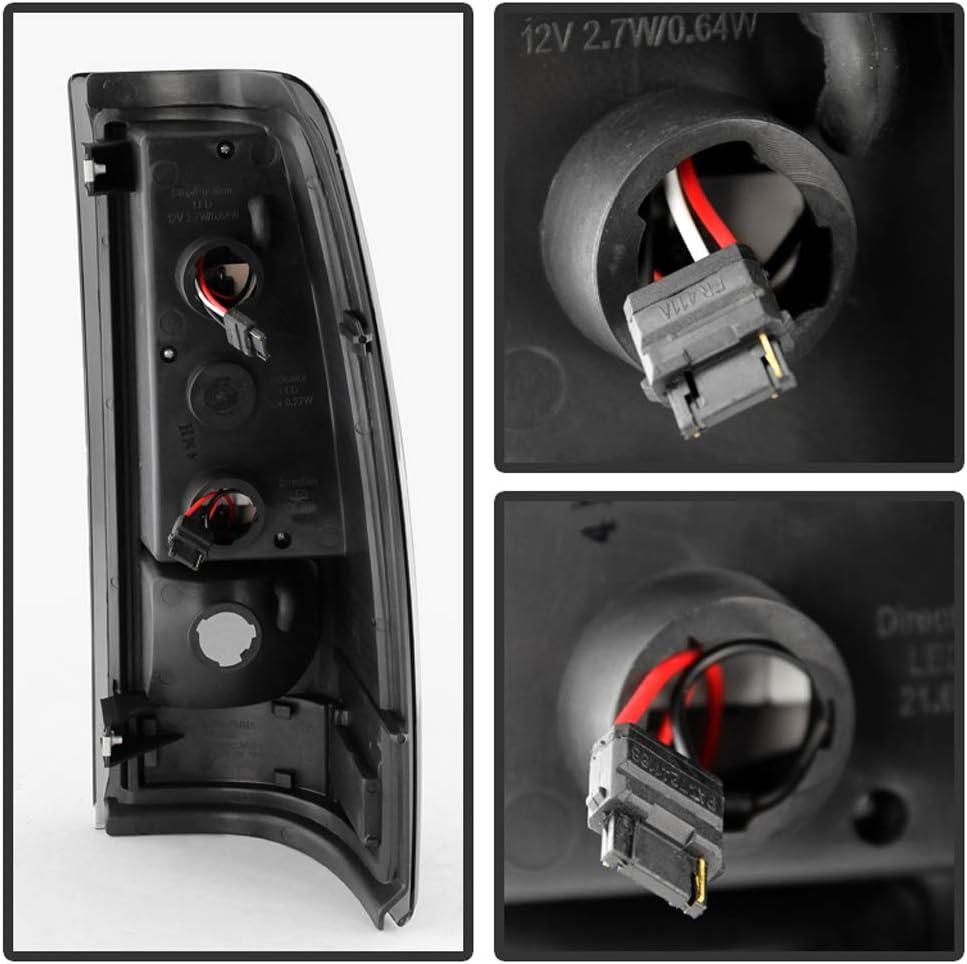 For Black Smoke 1999-2002 Chevy Siverado 1500 GMC Sierra LED Tail Lights Brake Lamps ACANII