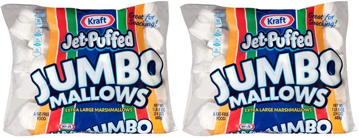 Jet-Puffed JHGXPTDL Jumbo Marshmallows, 2 Packs of 8 (24 Ounce/Bag) by Jet-Puffed (Image #1)