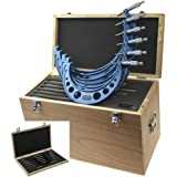 """Anytime Tools 6-12"""" Outside Micrometer Set Machinist Tool Round Frame w/Carbide Tips"""
