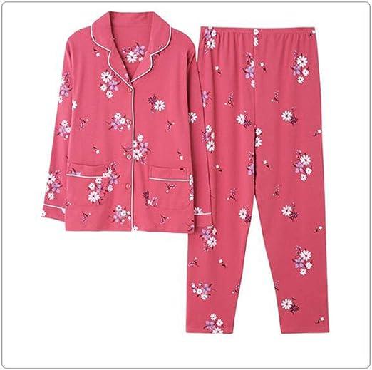 GJ Pijamas, 100% algodón Pijamas de Mediana Edad y Ancianos ...