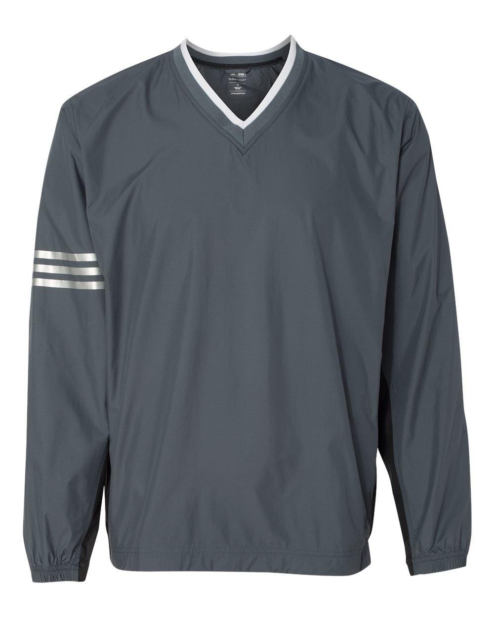 アメリカ版モデルadidas(アディダス)ゴルフクライマプルーフClimaProofウィンドカラーブロックVネックウィンドシャツA147 [並行輸入品] B01CBBT5QA US Mサイズ|灰黒(グレーブラック) 灰黒(グレーブラック) US Mサイズ