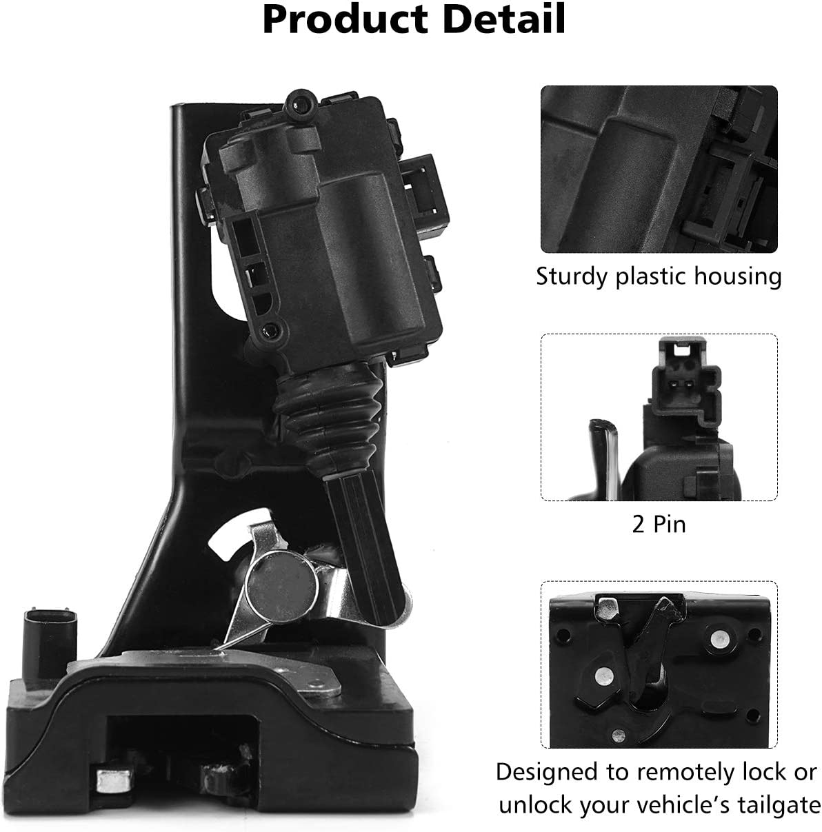 Mazda Tribute /& Mercury Mariner Model Years 2008-2012 Replaces OEM # 9L8Z843150B 937663 Partol Liftgate Actuator Rear Hatch Latch Lock Assembly Fits Ford Escape