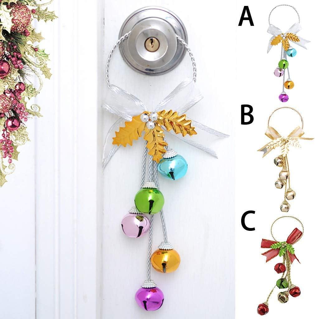 Colorzonesd Christmas Ornaments Christmas Bells Pendants Christmas Tree Decorations A