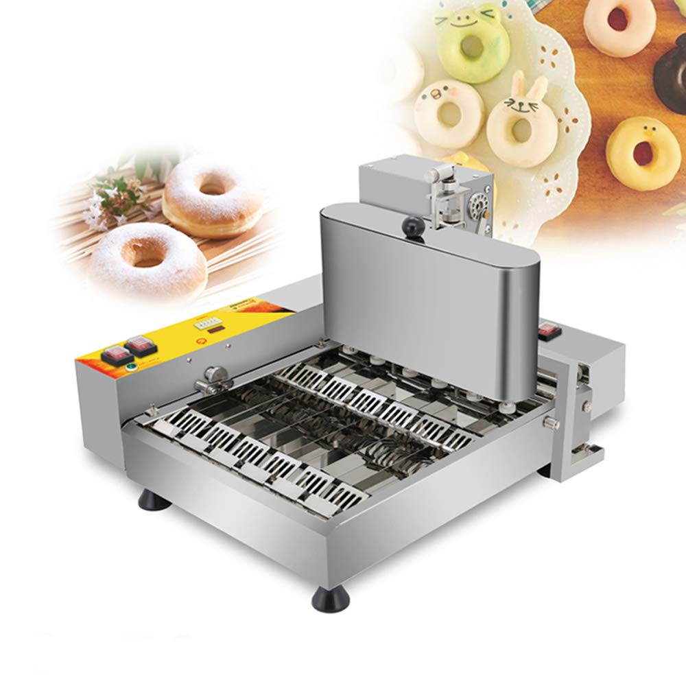 INTBUYING 110V Commercial Desktop Automatic Donut Maker Machine 6rows/timeStainless Steel Baker by INTBUYING