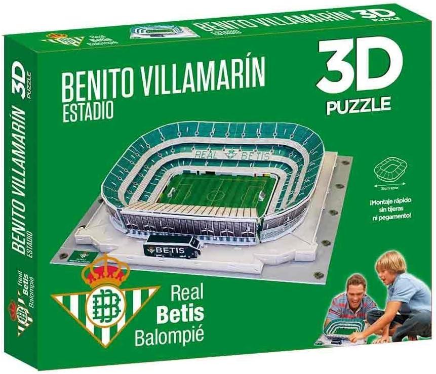 Eleven Force- Puzzle EST 3D Benito Villamarín (R. Betis) con Luz, Multicolor, Talla Única (1)