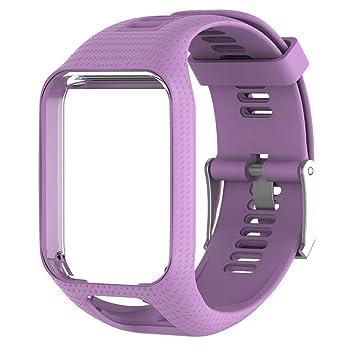 Landum Bracelet de rechange en silicone pour montre GPS TomTom Runner 2 3 Spark 3 -