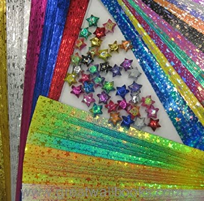 Origami Stars Papers Package AV (3 packs total 280 pieces)