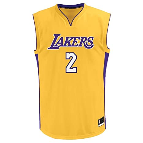 c0d97920818 Amazon.com : Lonzo Ball Los Angeles Lakers #2 Yellow Youth Home Replica  Jersey Small 8 : Clothing