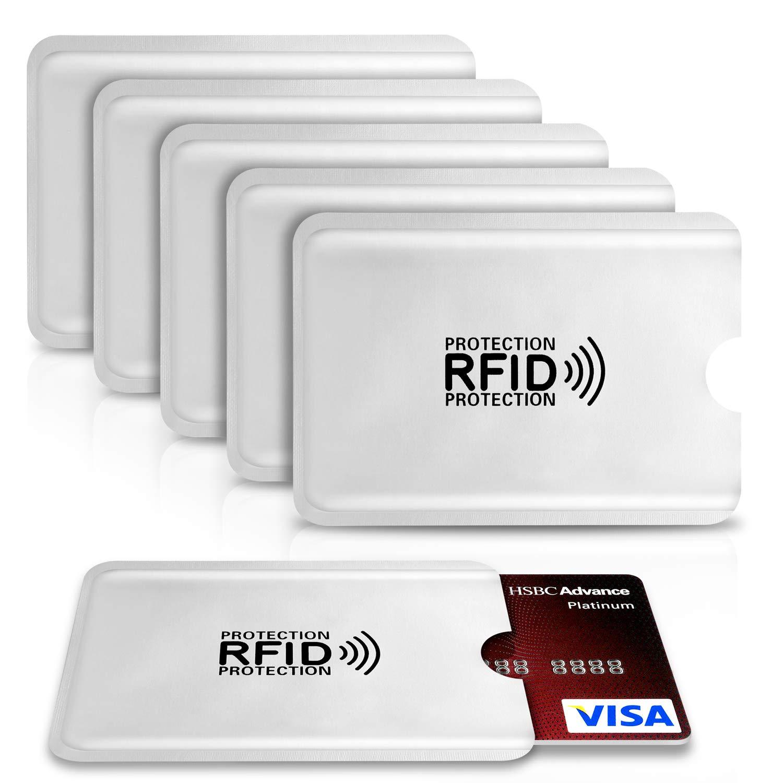 6 Protectores Tarjeta Credito 6 Pack PAMIYO Protector de Tarjetas de Credito RFDI Protecci/ón 100/% de NFC Bloqueo Blocker Card para Tarjeta de Cr/édito Aluminio D/ébito y Tarjeta de Identificaci/ón