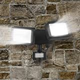 Easymaxx 06619 Security LED Outdoor Spotlight | Double Radiator With Motion Detector | Infinitely Adjustable
