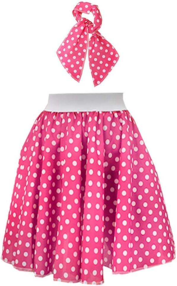 I LOVE FANCY DRESS LTD Falda Corta Y PAÑUELO para EL Cuello Rosa ...