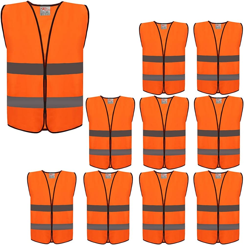 ZOJO High Visibility Reflective Vests,Adjustable Size,Lightweight Mesh Fabric, Fits for Men and Women