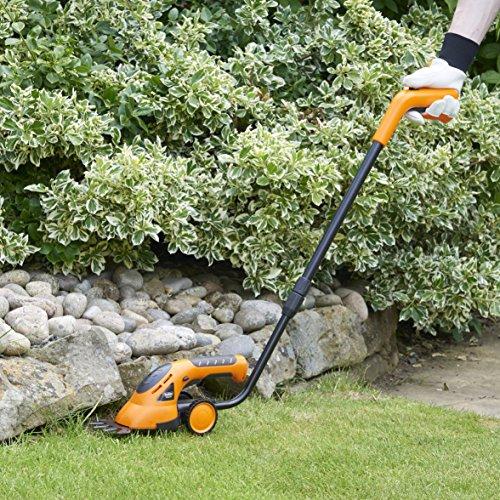 Vonhaus 2 in 1 cordless grass shears hedge trimmer for Lightweight long handled garden shears