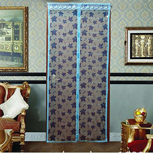 Voberry(tm) Home Magic Mesh Magnetic Anti Mosquito Door Gate Curtains (100, SkyBlue)