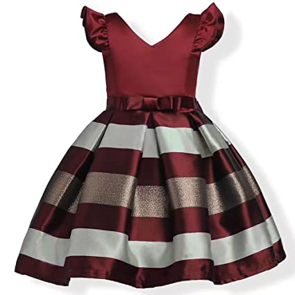 d3d8115ddf3e ZaH Girl Dress Kids Ruffles Lace Party Wedding Bridesmaid Dresses