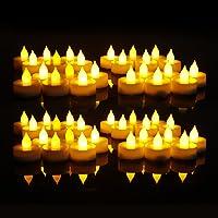 EverBrite 48PC Vela LED Sin Llama Vela Electrónica Lámpara de mesa Luz de Té con Pilas Duración Prolongada 120 Horas…