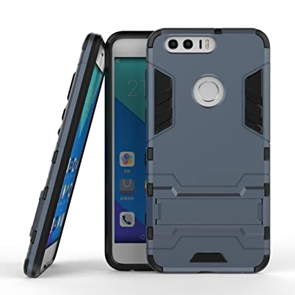 Gps Huawei Honor 8 Case Cover [ Armor Series] Hard Slim Hybrid Kickstand  Phone Cover Case for for Huawei Honor 8 (Gray)