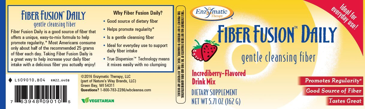 La fibra Fusion Plus, Incrediberry Drink Mix, 5,7 oz (162 g) - terapia enzimática: Amazon.es: Salud y cuidado personal