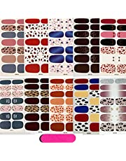 10 Sheets Full Wraps Nail Polish Stickers,MWOOT Self-Adhesive Leopard Nail Art Decals Strips Nail Art Designs Kits with Nail File for Women Girls