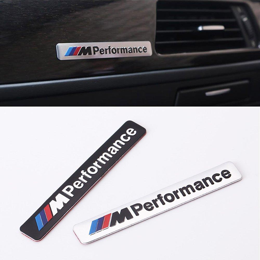 Click to open expanded view COGEEK 2PCS M Performance Emblem Car Decorative Metal Sticker For BMW