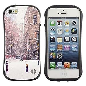 Suave TPU GEL Carcasa Funda Silicona Blando Estuche Caso de protección (para) Apple Iphone 5 / 5S / CECELL Phone case / / Winter Street Snow Christmas France /