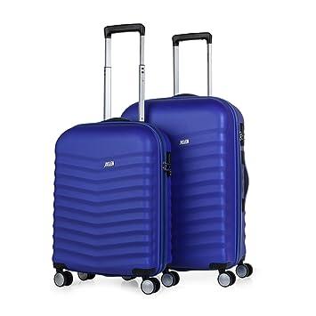 JASLEN - Juego de Maletas de Viaje Rígidas 4 Ruedas Trolley 55/65 cm ABS
