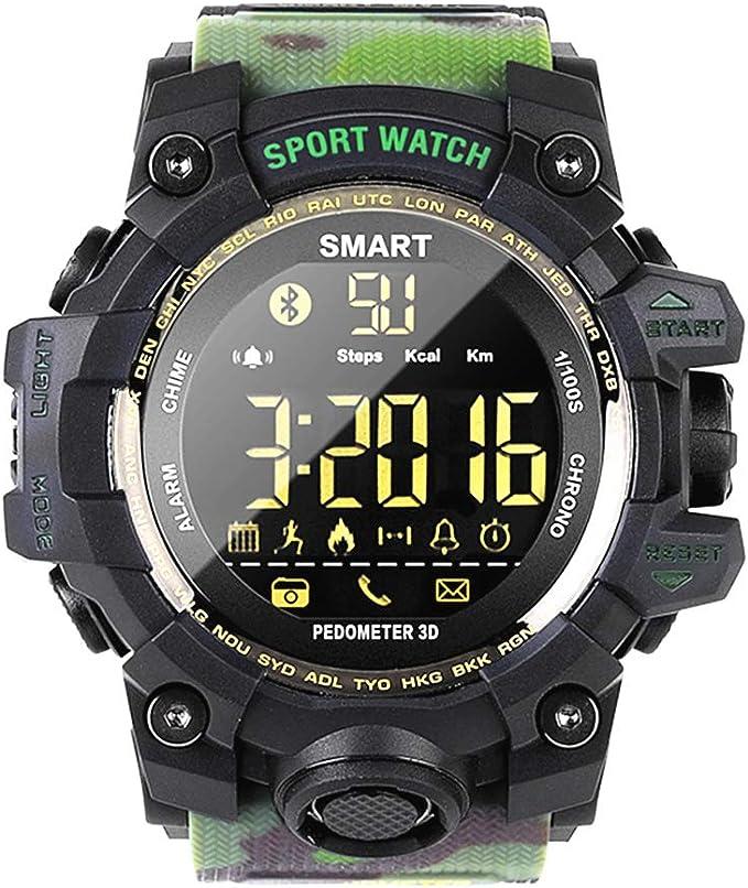 Amazon.com: EX16 Reloj inteligente deportivo resistente al ...
