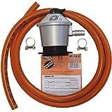 REPUESTOELECTRO-tubo manguera butano 1,5 metros + abrazaderas + regulador